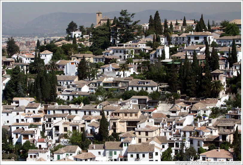 View of Albaic?from the Alhambra.