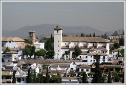 View of Mirador de San Nicol?in Albaic?from the Alhambra.