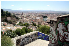 Staircase between Carretera De Murcia and Calle Veredillas de San Crist?, with a view of the city.  Albaic?