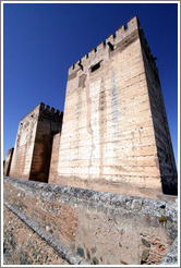 Exterior of the Alcazaba (fortress), Alhambra.