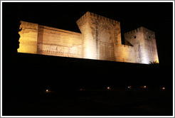 Alcazaba, Alhambra at night.