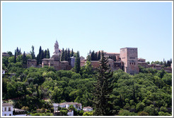 View of the Alhambra from Camino del Sacromonte.