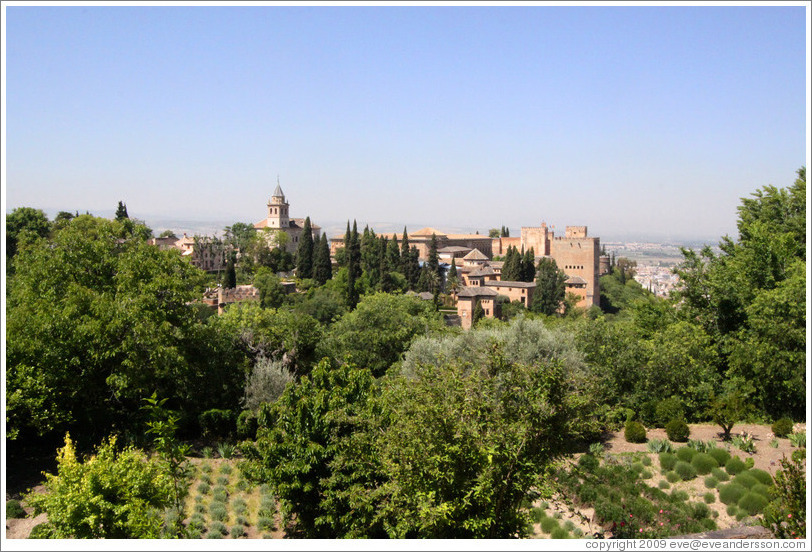 View of the Alhambra from Generalife.