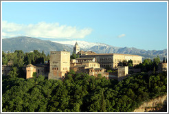 View of the Alhambra from Mirador de San Nicol?(8:03pm).
