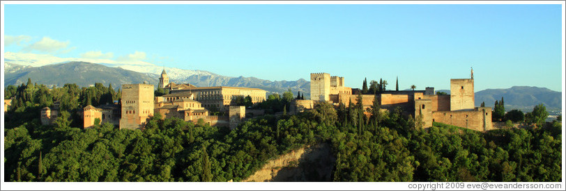 View of the Alhambra from Mirador de San Nicol?(8:21pm).