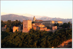 View of the Alhambra from Mirador de San Nicol?(8:45pm).