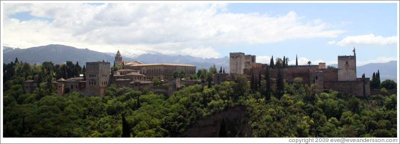 View of the Alhambra from Mirador de San Nicol?(2:25pm).