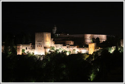 View of the Alhambra from Mirador de San Nicol?(10:26pm).