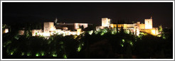 View of the Alhambra from Mirador de San Nicol?(10:23pm).