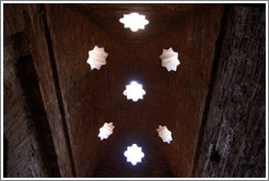 Star-shaped openings in the ceiling, mosque baths, Alhambra.