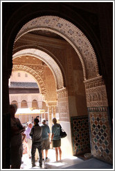 Arches looking toward Patio de los Leones, Nasrid Palace, Alhambra.