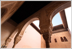 Arches leading to patio.  Nasrid Palace, Alhambra.