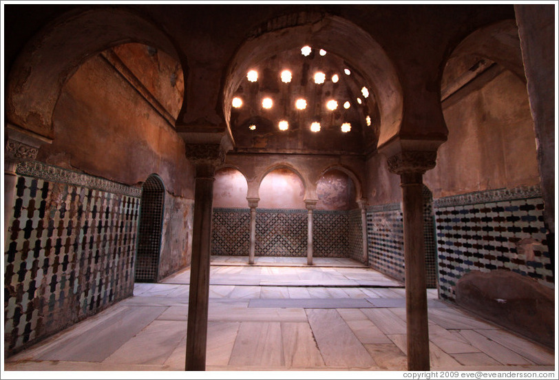 Palace baths.  Nasrid Palace, Alhambra.