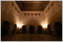 Comares Hall, Nasrid Palace, Alhambra at night.