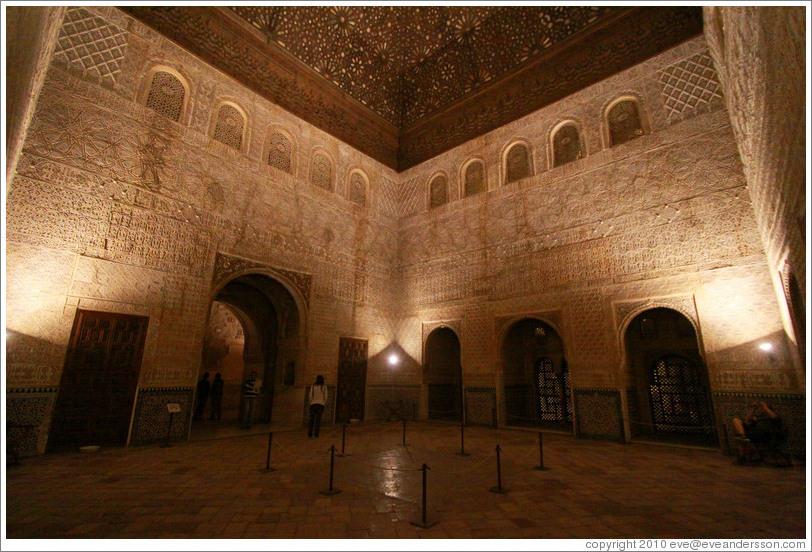 Comares hall nasrid palace alhambra at night photo id - Banos arabes palacio de comares ...