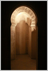 Oratory in Comares Hall, Nasrid Palace, Alhambra at night.