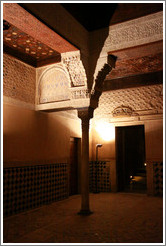 Mexuar, Nasrid Palace, Alhambra at night.