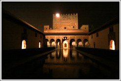 Patio de los Arrayanes, Nasrid Palace, Alhambra at night.
