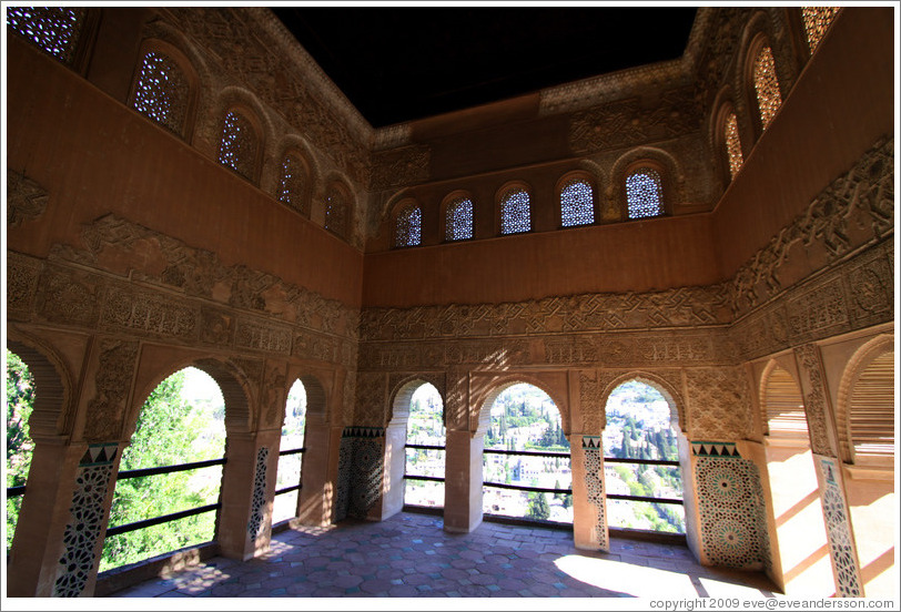 Patio outside Nasrid Palace, Alhambra.