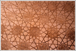 Pattern on wall (#10).  Nasrid Palace, Alhambra.