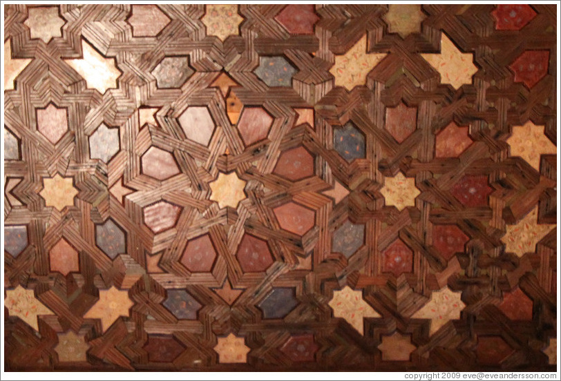 Pattern on ceiling (#2).  Nasrid Palace, Alhambra.