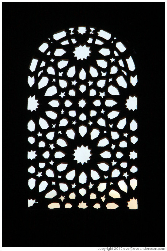 Window, Salon de Comares, Nasrid Palace, Alhambra.