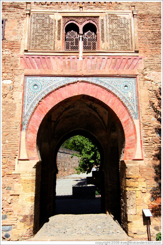 La Puerta del Vino (The Wine Gate), which inspired Claude Debussy's eponymous piece of music, despite never having seen it.  The Alhambra.