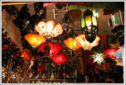 Lamps sold in the Alcaicer? originally Granada's Moorish silk bazaar.  City center.