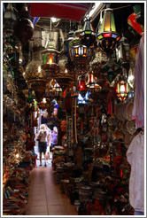 Moroccan-style lamps, Calle Ermita, city center.