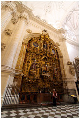 Granada Cathedral with man.