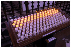 Electric candles.  Granada Cathedral.