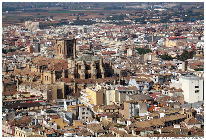 Cathedral, viewed from the Alhambra.