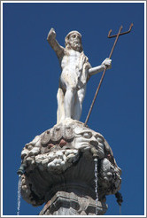 Neptune. Fuente de los Gigantes (Fountain of the Giants). Plaza de Bib-Rambla, city center.