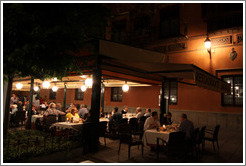 Restaurant at night.  Plaza de Bib-Rambla.  City center.