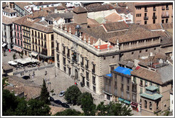 Real Chanciller?(Royal Chancellery), built in the 16th century, viewed from the Alhambra.  Plaza Nueva, City center.