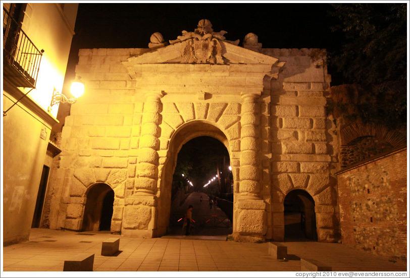 Puerta De Las Granadas At Night Cuesta De Gom Z Photo