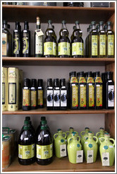 Bottles of olive oil.  Nig?elas, Granada province.