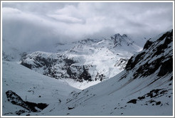 Snowy mountains, viewed from the Julier Pass.