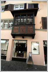 Bay window on Augustinergasse.  Altstadt (Old Town).