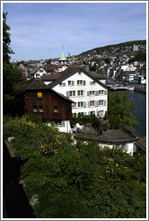 Houses below Lindenhof.  Altstadt (Old Town).