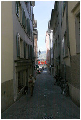 Narrow street off of Oberdorfstrasse.  Altstadt (Old Town).