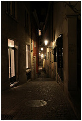 Spiegelgasse at night.  Altstadt (Old Town).
