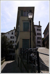 House with front and back simultaneously visible.  Wohllebgasse.  Altstadt (Old Town).
