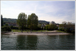 Swimming beach.  Wollishofen.  Z?richsee (Lake Z?rich).