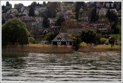 House in long grass on Z�richsee (Lake Z�rich).