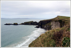 Landscape near Carrick-a-Rede Rope Bridge.