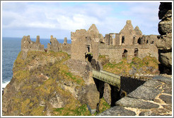 Dunluce Castle on a sea cliff.
