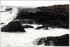 Rough waters, Giant's Causeway.