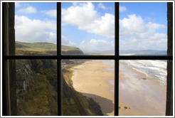 View through a window in the Mussenden Temple.