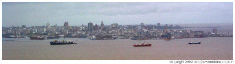Montevideo, viewed from the River Plata.